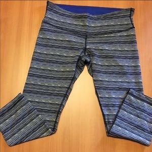 Lululemon Ltd Ed. Wunder Under Crops blue knit